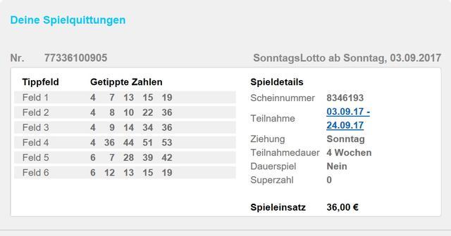 Lotto System spielen 72137