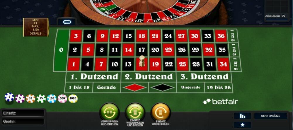 Europäisches Roulette 922944